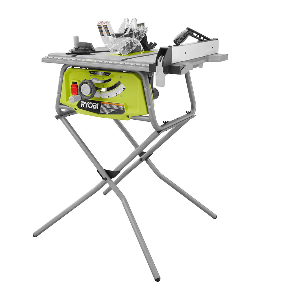 Ryobi 10 in table saw with folding stand rts11 the home depot ryobi 10 in table saw with folding stand greentooth Image collections