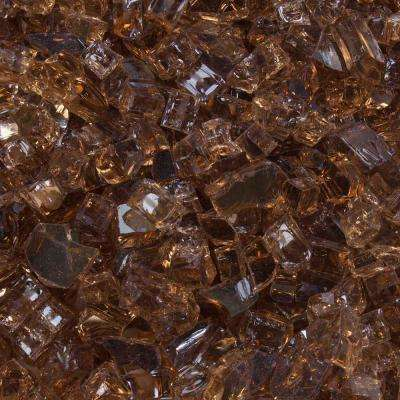 1/4 in. 10 lbs. Cosmic Copper Reflective Tempered Fire Glass in Jar