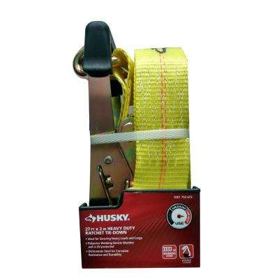 27 ft. x 2 in. Heavy Duty Ratchet Tie-Down with J Hook