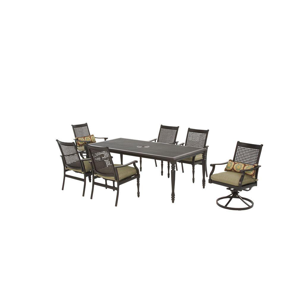 Martha Stewart Living Pembroke Patio Swivel Dining Chair (Set of 2)-DISCONTINUED