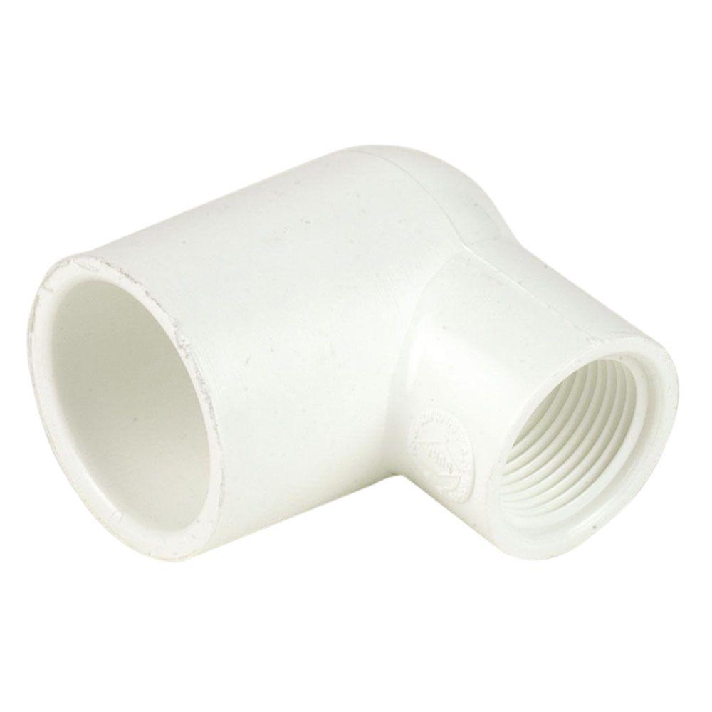 DURA 3/4 in  x 1/2 in  PVC Sch  40 Pressure 90-Degree Slip x FPT Reducing  Elbow