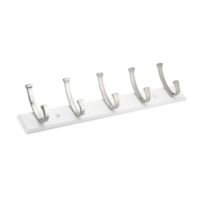 24 in. (610 mm) White Contemporary Hook Rack