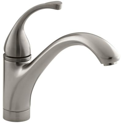 Forte Single-Handle Standard Kitchen Faucet with Lever Handle in Vibrant Brushed Nickel