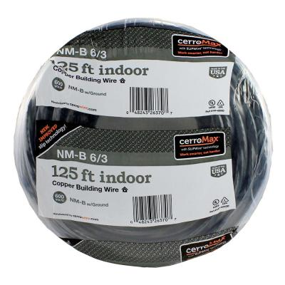 125 ft. 6/3 Black NM-B Wire