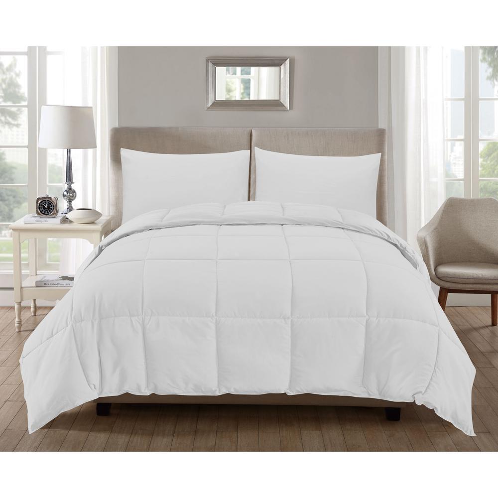 Jackson 3-Piece White-White Full Comforter Set