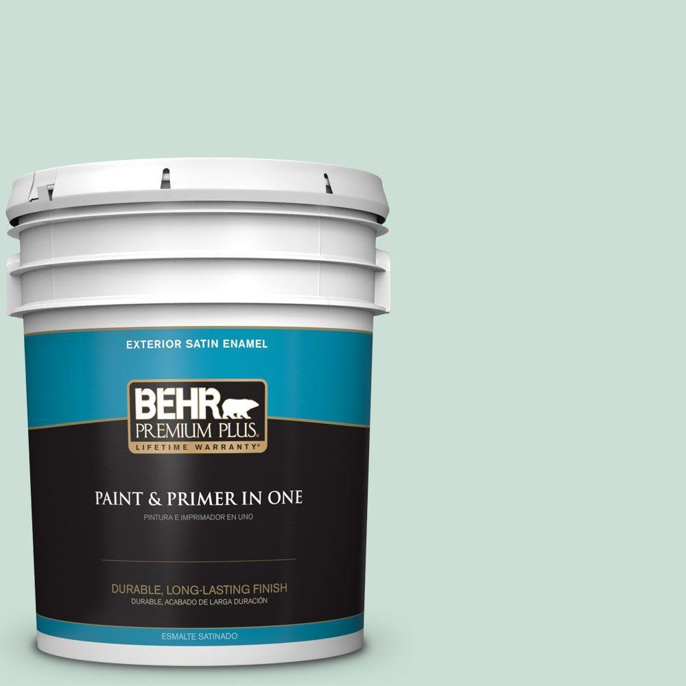 BEHR Premium Plus 5-gal. #M430-2 Ice Rink Satin Enamel Exterior Paint