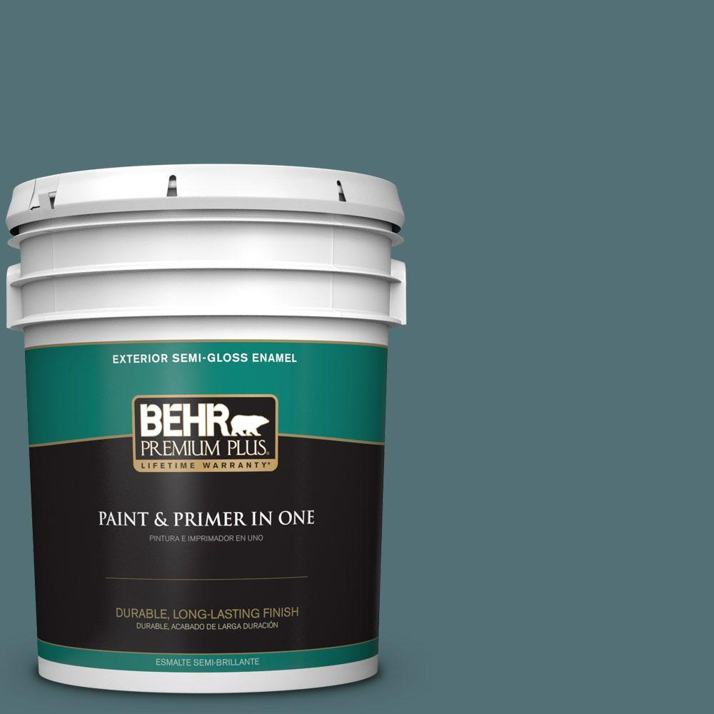 5-gal. #HDC-CL-22 Sophisticated Teal Semi-Gloss Enamel Exterior Paint