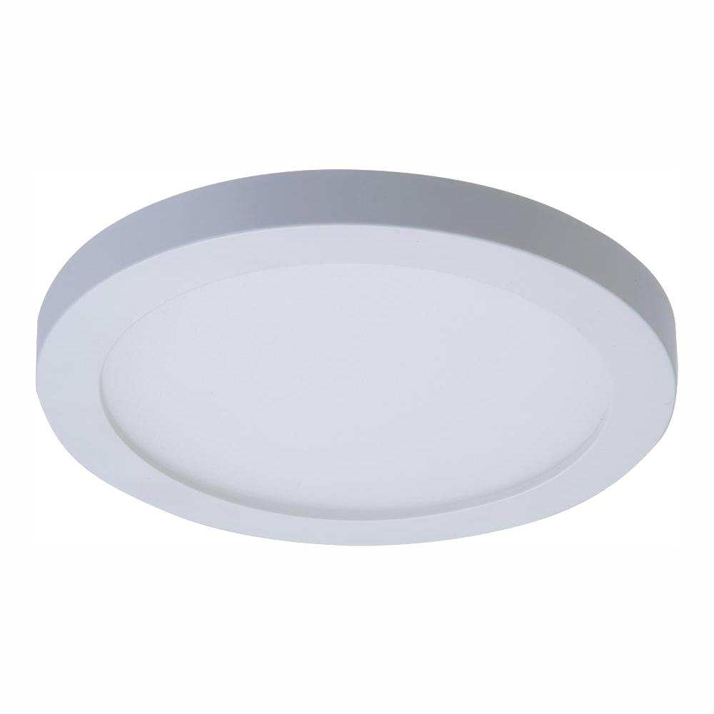 buy popular f8ac9 0eecd Halo SMD 4 in. 3000K Warm White Integrated LED Recessed Round Surface Mount  Ceiling Light Trim with 90 CRI