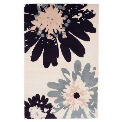 Flower Ivory 3 ft. 3 in. x 5 ft. Area Rug