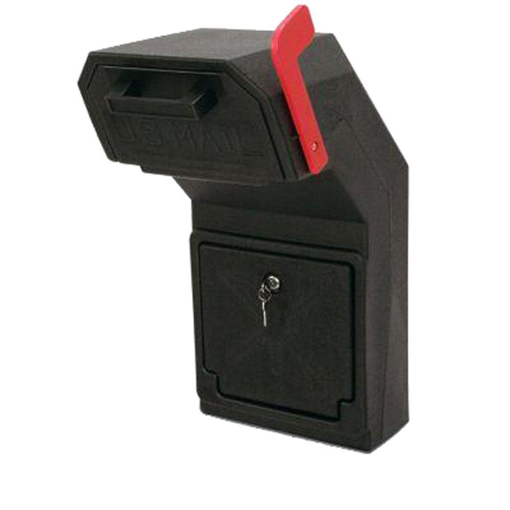 Postal Products Unlimited MailGuard Plastic Locking Mailbox in Black