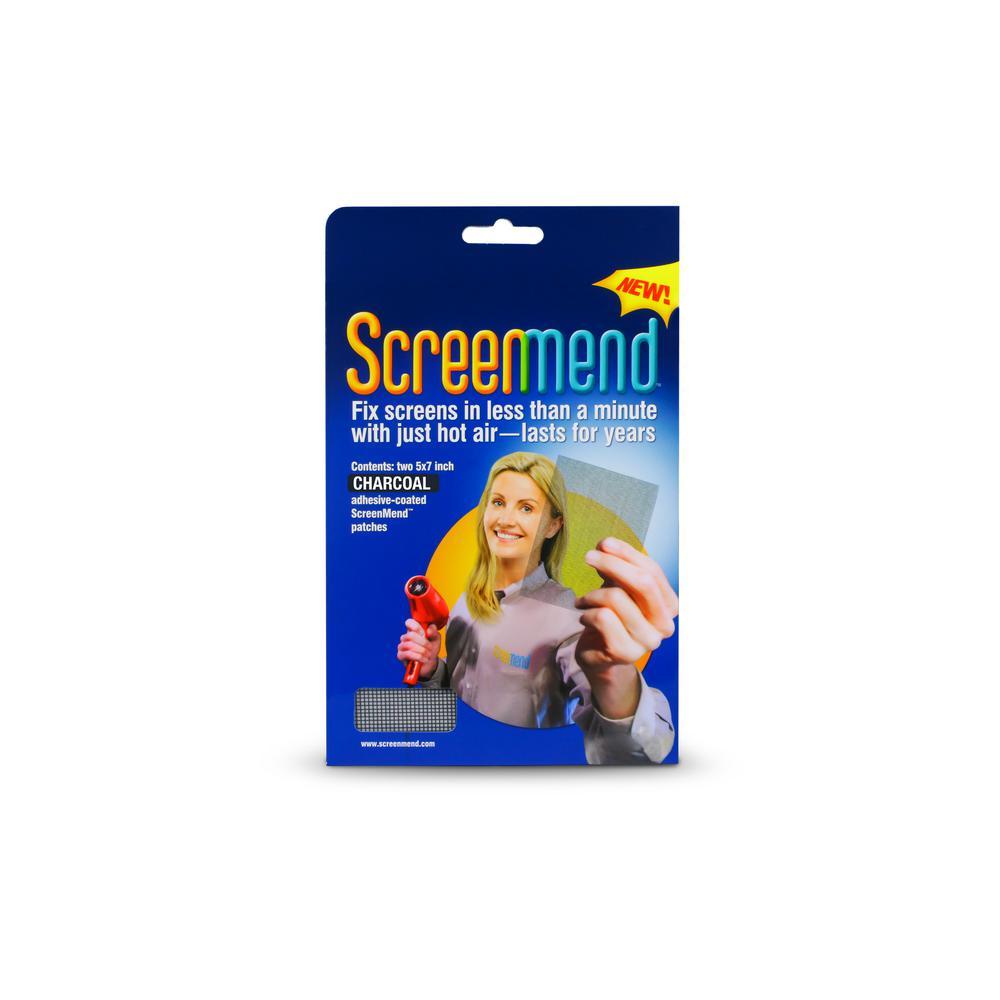 5 in. x 7 in. Charcoal Screen Repair Patch (2-Pack)