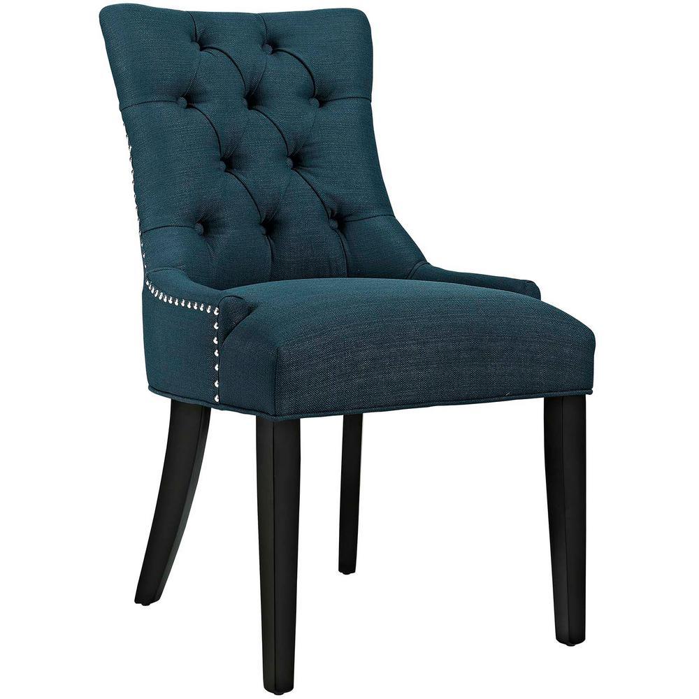 Regent Azure Fabric Dining Chair