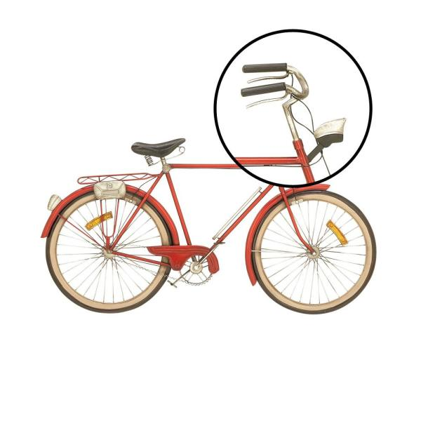 Litton Lane Metal Red Bicycle Wall Decor 65536 The Home Depot