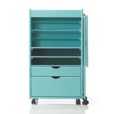 Stanton 20 in. W Deluxe Wrapping Storage Cart in Blue