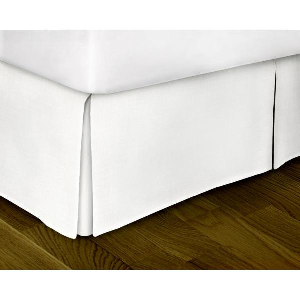 Rizzy Home White Solid Pattern Queen Bed Skirt