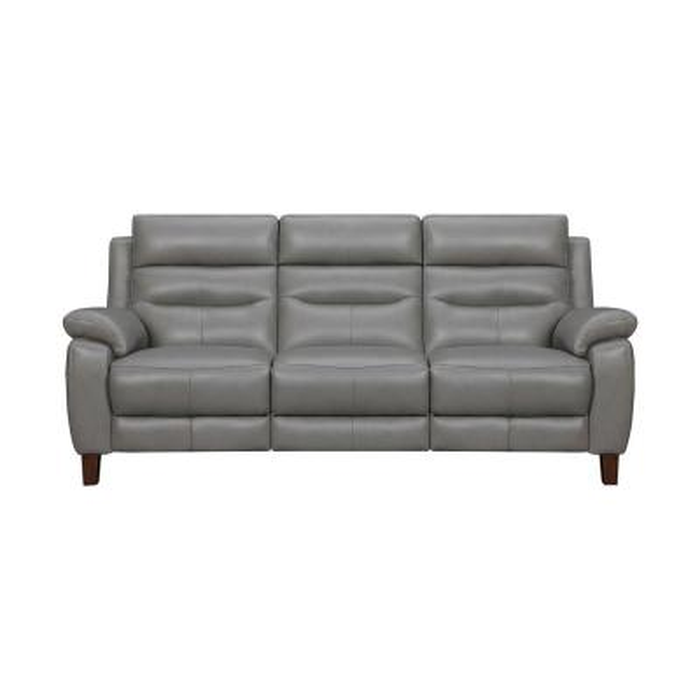 Hayward 82 in. Dark Gray Leather Power Reclining Sofa