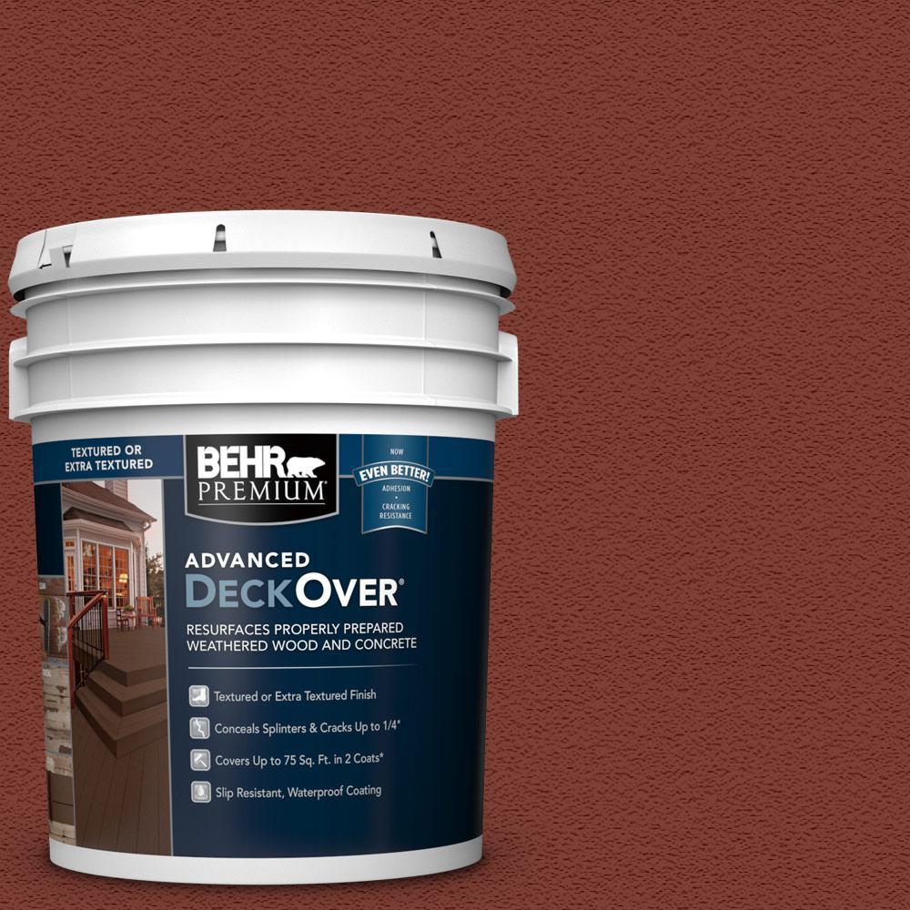 Behr premium advanced deckover 5 gal sc 330 redwood - Exterior textured paint home depot ...