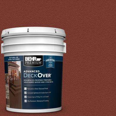 5 gal  #SC-330 Redwood Textured Solid Color Exterior Wood and Concrete  Coating