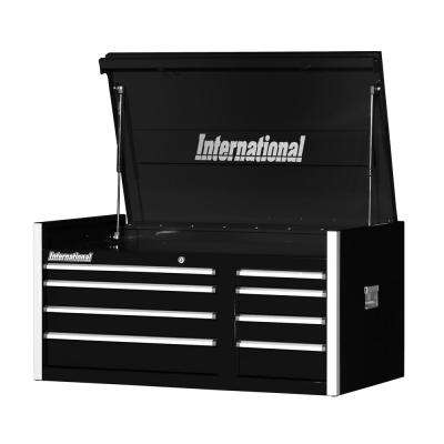 Pro Series 42 in. 8-Drawer Top Chest in Black