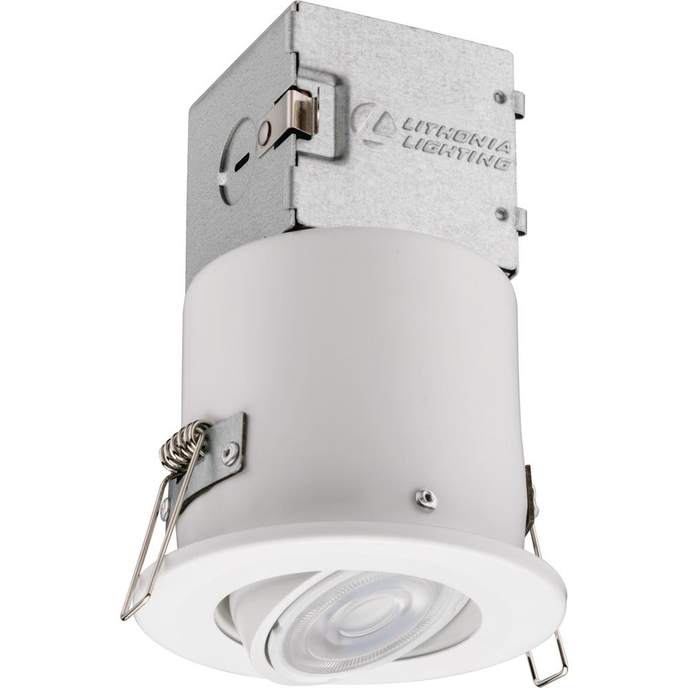 Lithonia Recessed Led Trim: Lithonia 3 In. White LED Recessed Directional Lighting