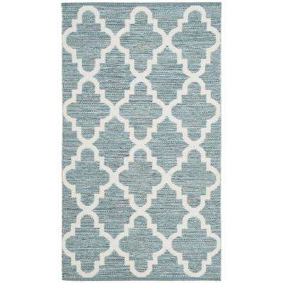 Montauk Mint/Ivory 2 ft. 3 in. X 3 ft. 9 in. Area Rug