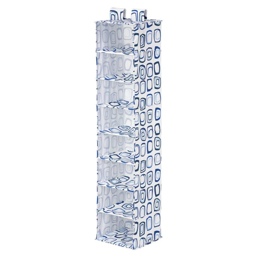 Honey-Can-Do 8-Shelf Hanging Blue And White Organizer