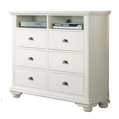 Addison White 6-Drawer TV Stand