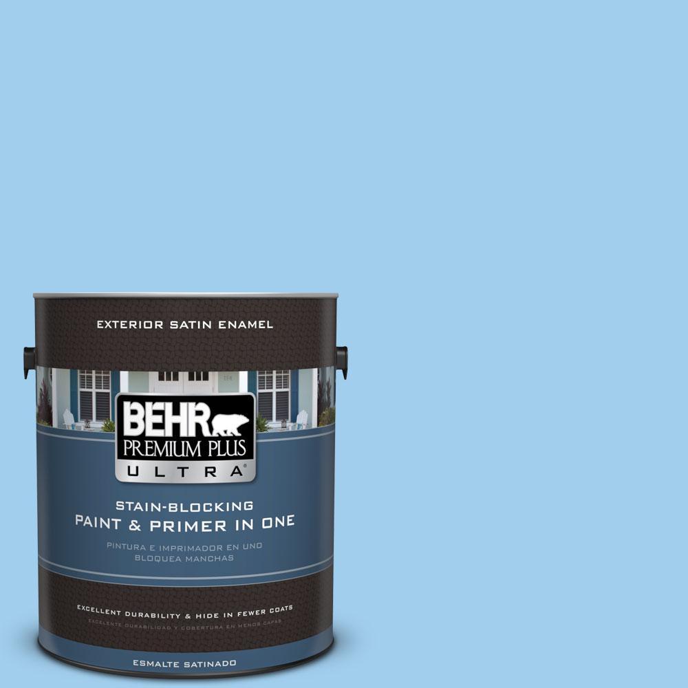 BEHR Premium Plus Ultra 1-gal. #P510-2 Mediterranean Charm Satin Enamel Exterior Paint