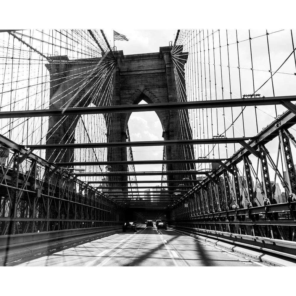 Ocean waves wall mural wr50516 the home depot for Brooklyn bridge black and white wall mural