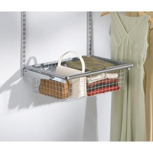 Rubbermaid Configurations Closet System Sliding Basket FG3J0501TITNM   The  Home Depot