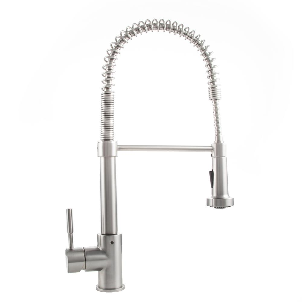 ZLINE Kitchen and Bath Apollo Single-Handle Pull-Down Sprayer Kitchen Faucet in Stainless Steel
