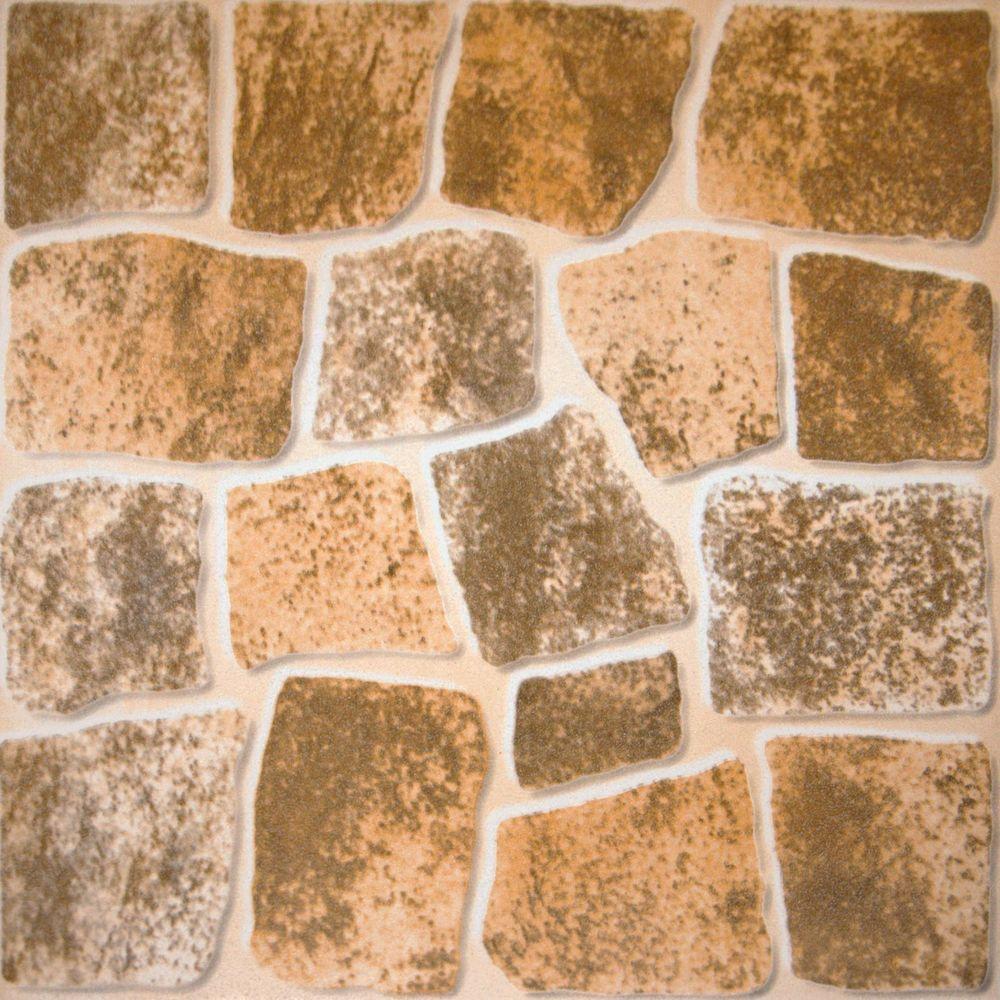 MS International Caliza Beige 16 in. x 16 in. Glazed Ceramic Floor & Wall Tile-DISCONTINUED