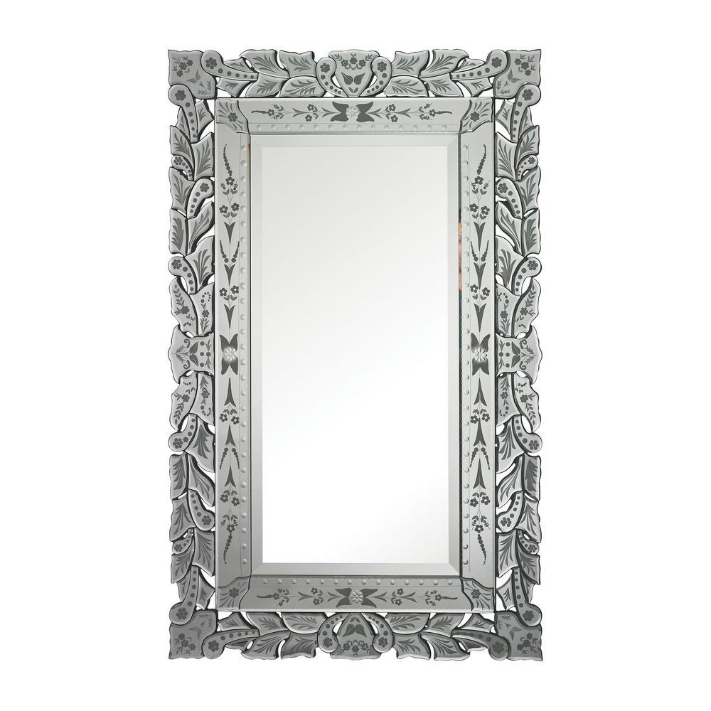 Titan Lighting Bardwell 31 in. x 50 in. Venetian Glass Framed Mirror ...