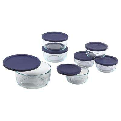 14-Piece Round Glass Baker Set with Lids