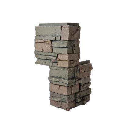 Stacked Stone Keystone 24 in. x 12 in. x 12 in. Faux Stone Siding Corner Piece (2-Pack)