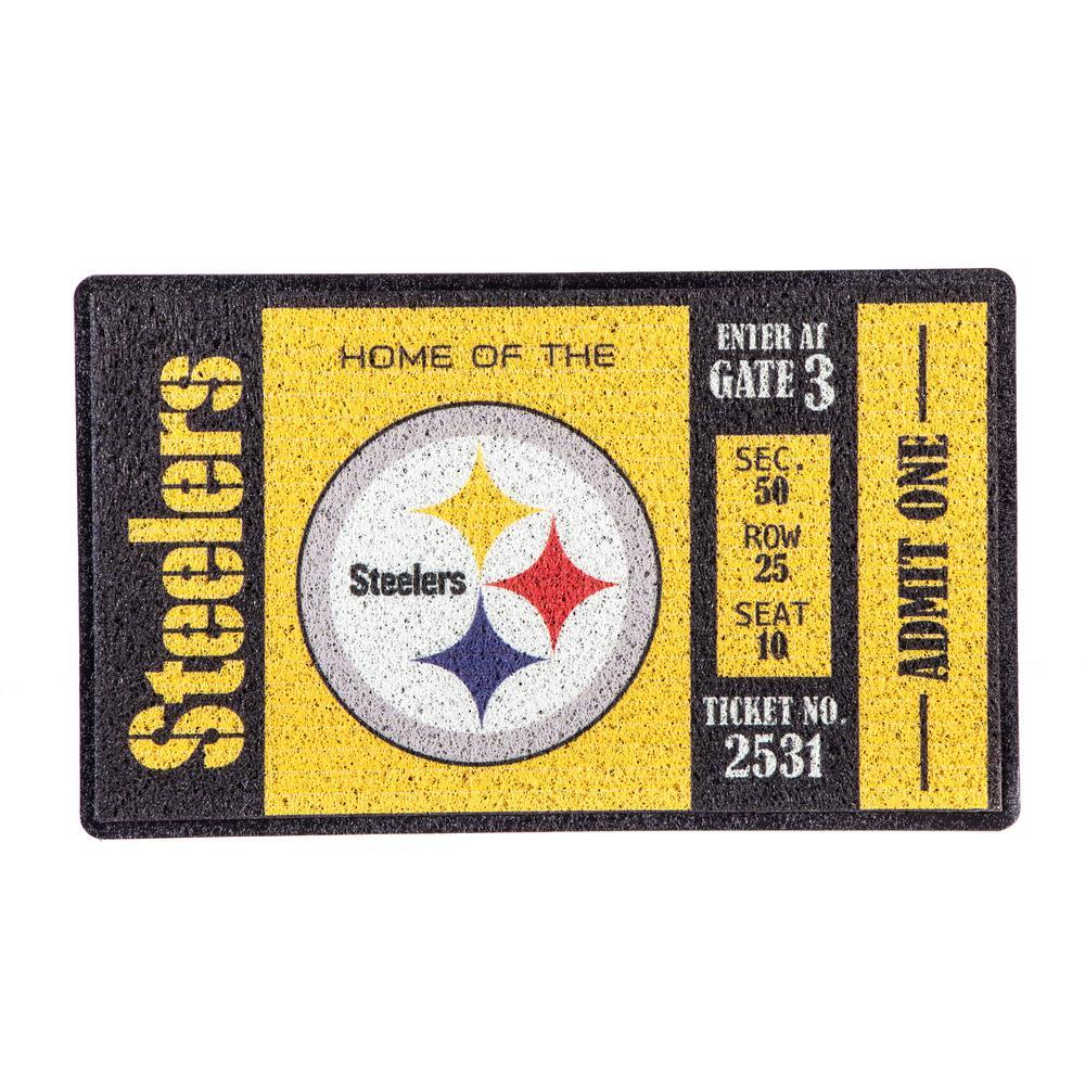Pittsburgh Steelers 30 in. x 18 in. Vinyl Indoor/Outdoor Turf Floor Mat