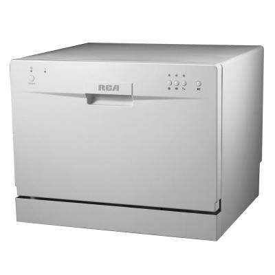 Electronic Countertop Dishwasher in White with 6 Place Setting Capacity