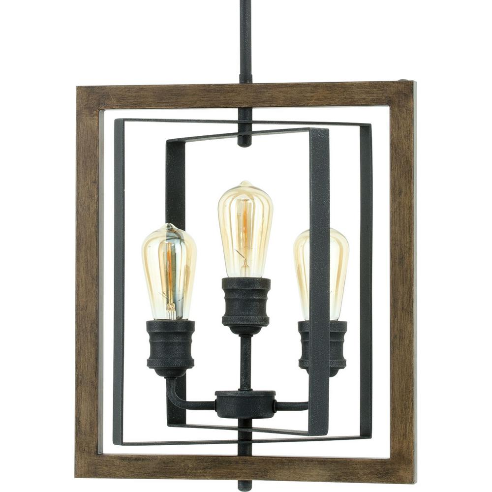 Home Decorators Collection Palermo Grove 14 In. 3 Light Gilded Iron Pendant