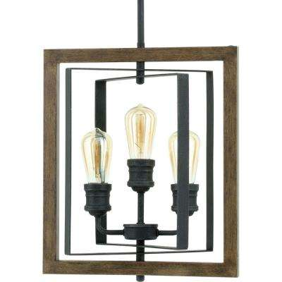 Palermo Grove Collection 3 Light Gilded Iron Pendant