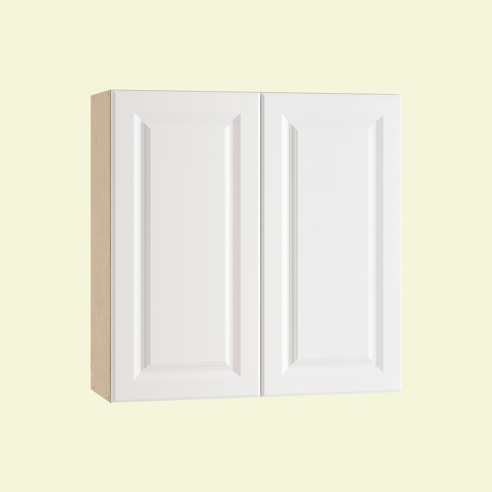 Wall Cabinet Frosted Pull Down Shelves Soft Close Doors Polar White