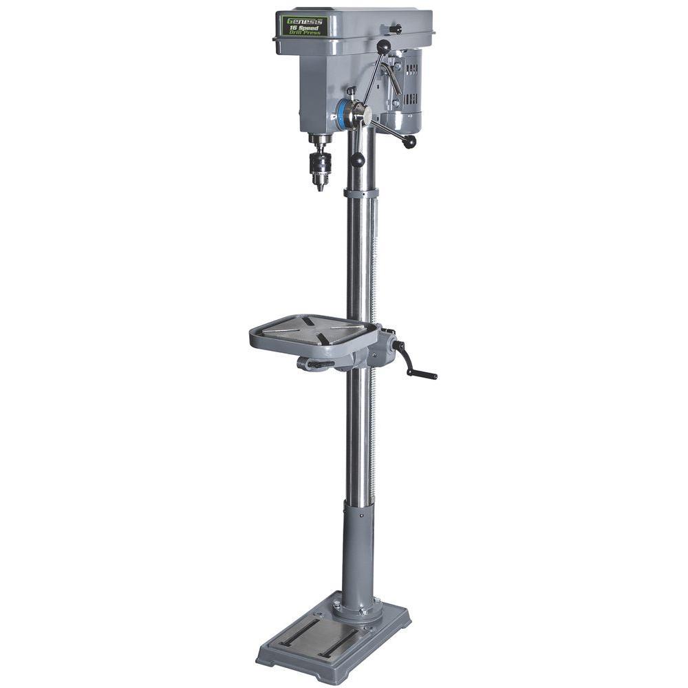 Genesis 120-Volt 6 6 Amp 16-Speed Floor Drill Press