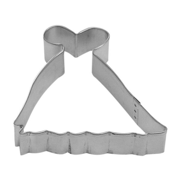CybrTrayd 12-Piece 4 in. Gown Princess Tinplated Steel Cookie Cutter &