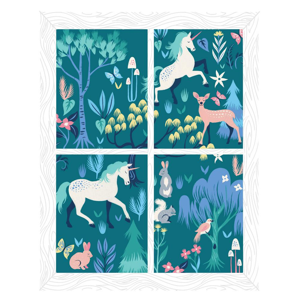 Multi Magical Forest Window Scene Decal Wall Art Kit