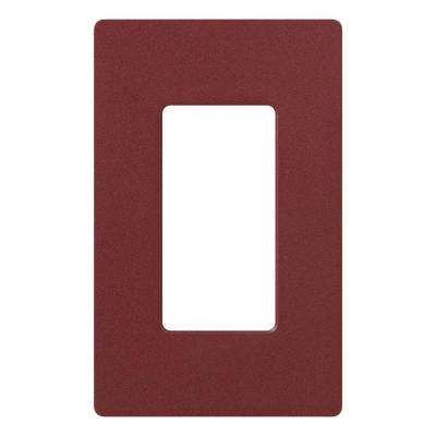 Claro 1 Gang Decorator Wallplate, Merlot