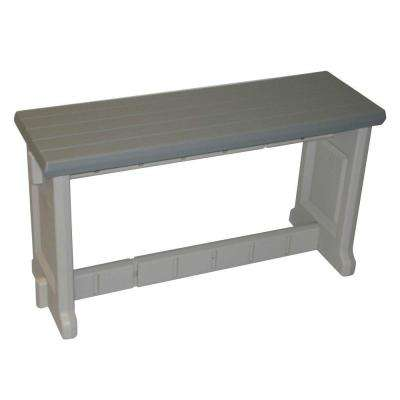 Lovely Gray Resin Patio Bench