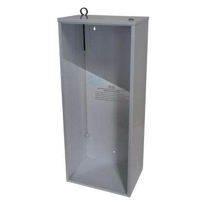 30.40 in. H x 12.00 in. W x 9.25 in. D 20 lbs. Steel Surface Mount Fire Extinguisher Cabinet in White