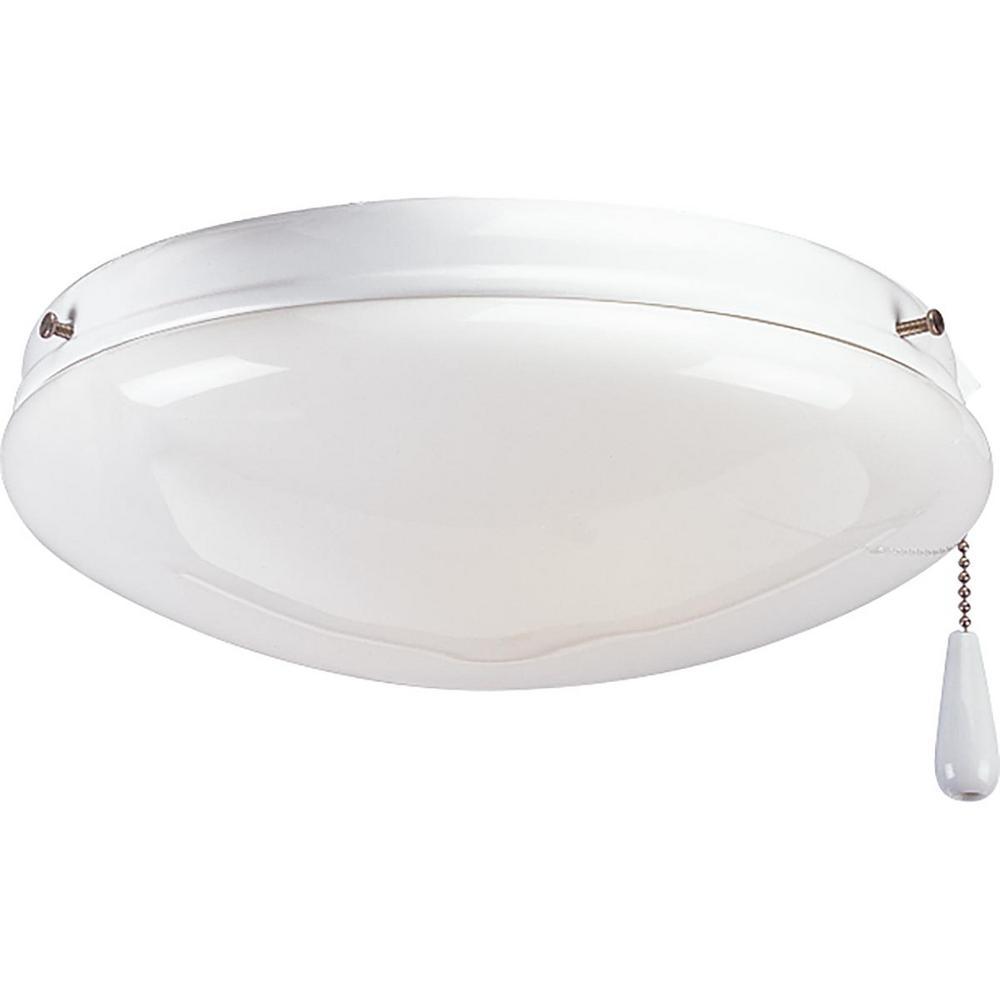 Fan Light Kits Collection 2-Light White Ceiling Fan Light Kit