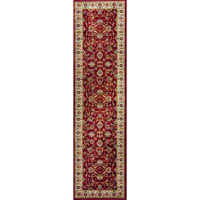 Barclay Sarouk Red 2 ft. x 7 ft. Traditional Floral Runner Rug