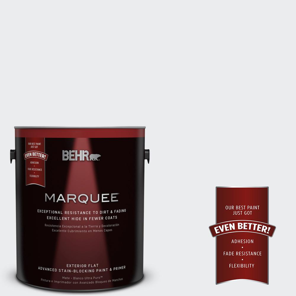 BEHR MARQUEE 1-gal. #BWC-12 Vibrant White Flat Exterior Paint