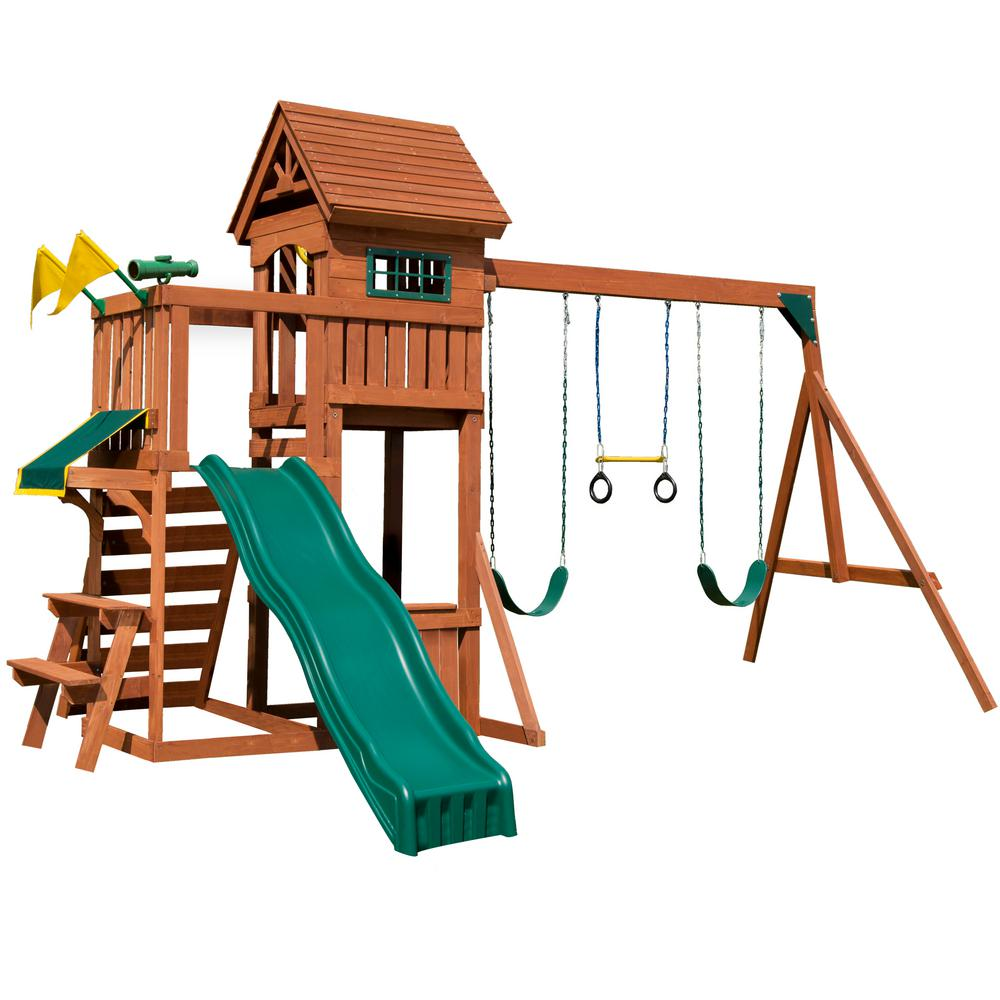 Swing-N-Slide Playsets Playful Palace Wood Complete Playset-PB 8331 ...
